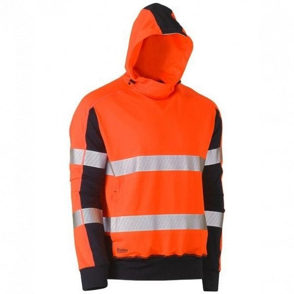 Custom TAPED HI VIS STRETCHY FLEECE HOODIE