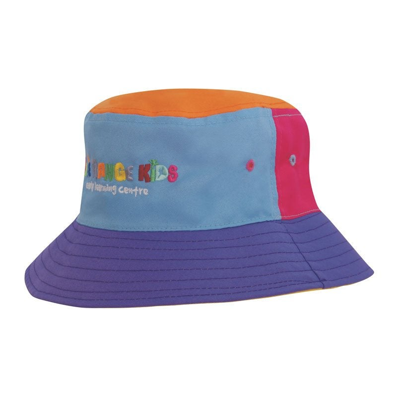 Breathable Poly Twill Child's Bucket Hat