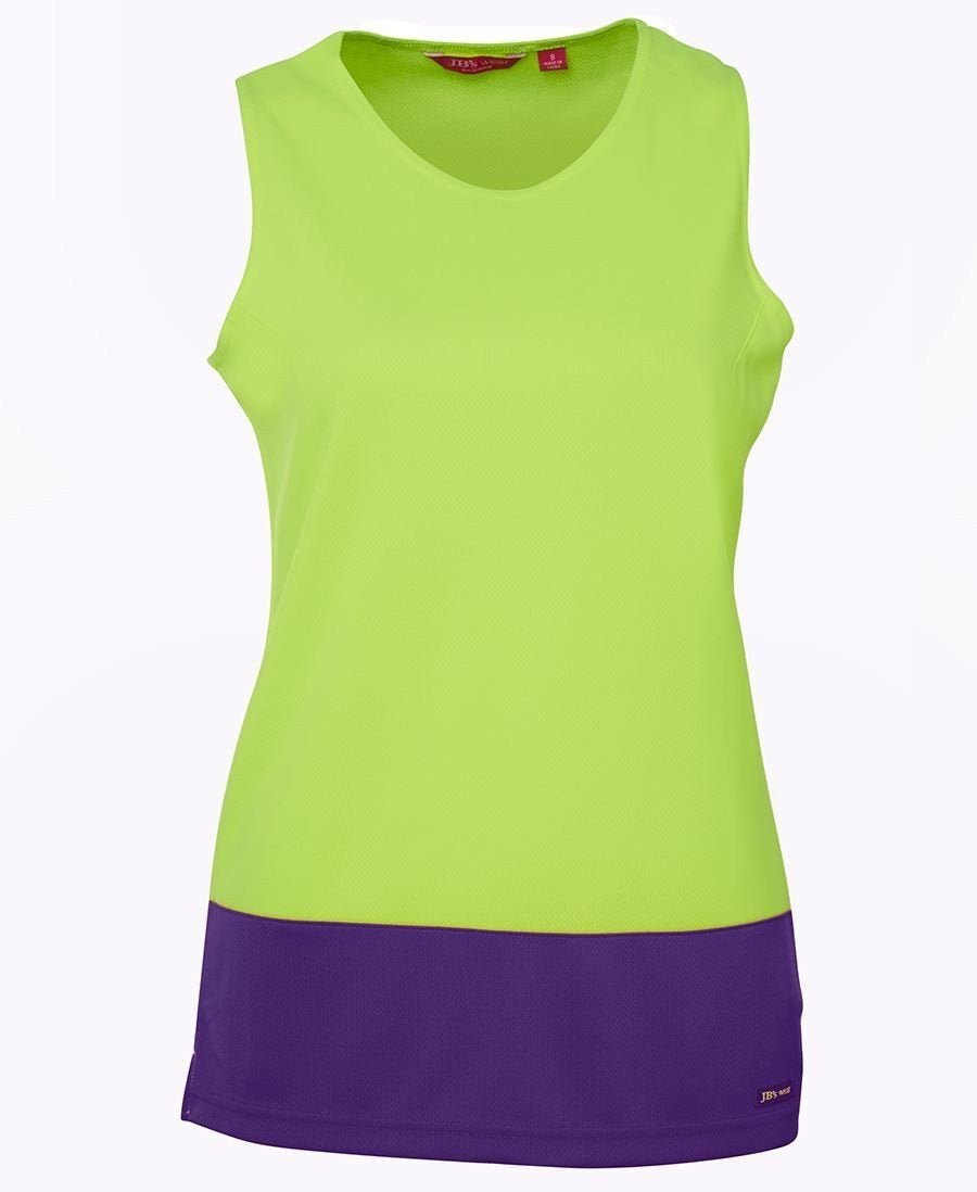 JB's Hi Vis Ladies Traditional Singlet