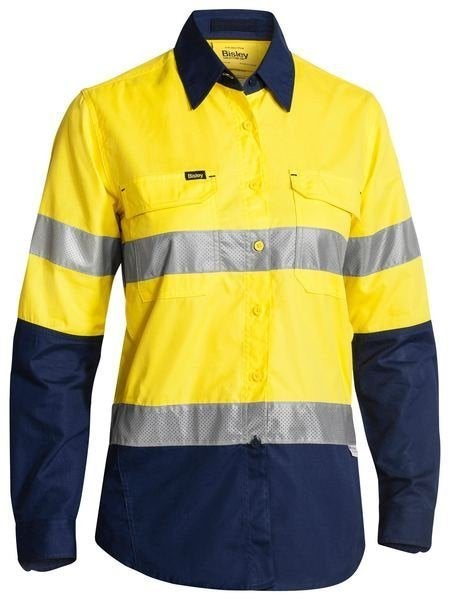 Womens Hi Vis 3M Taped Ripstop Shirt