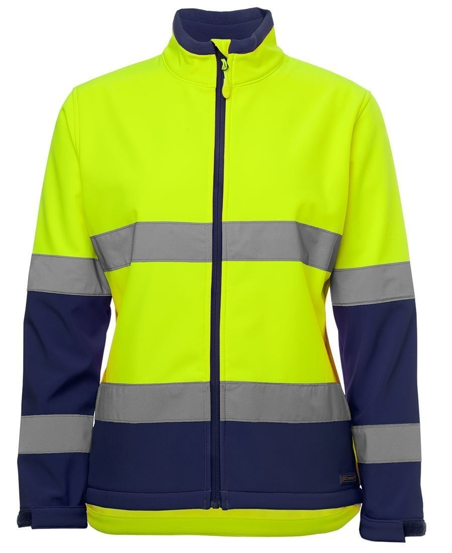 JB's Ladies Hi Vis Water Resistant Softshell Jacket