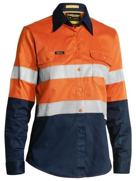 Womens Two Toned Hi Vis Industrial Shirt