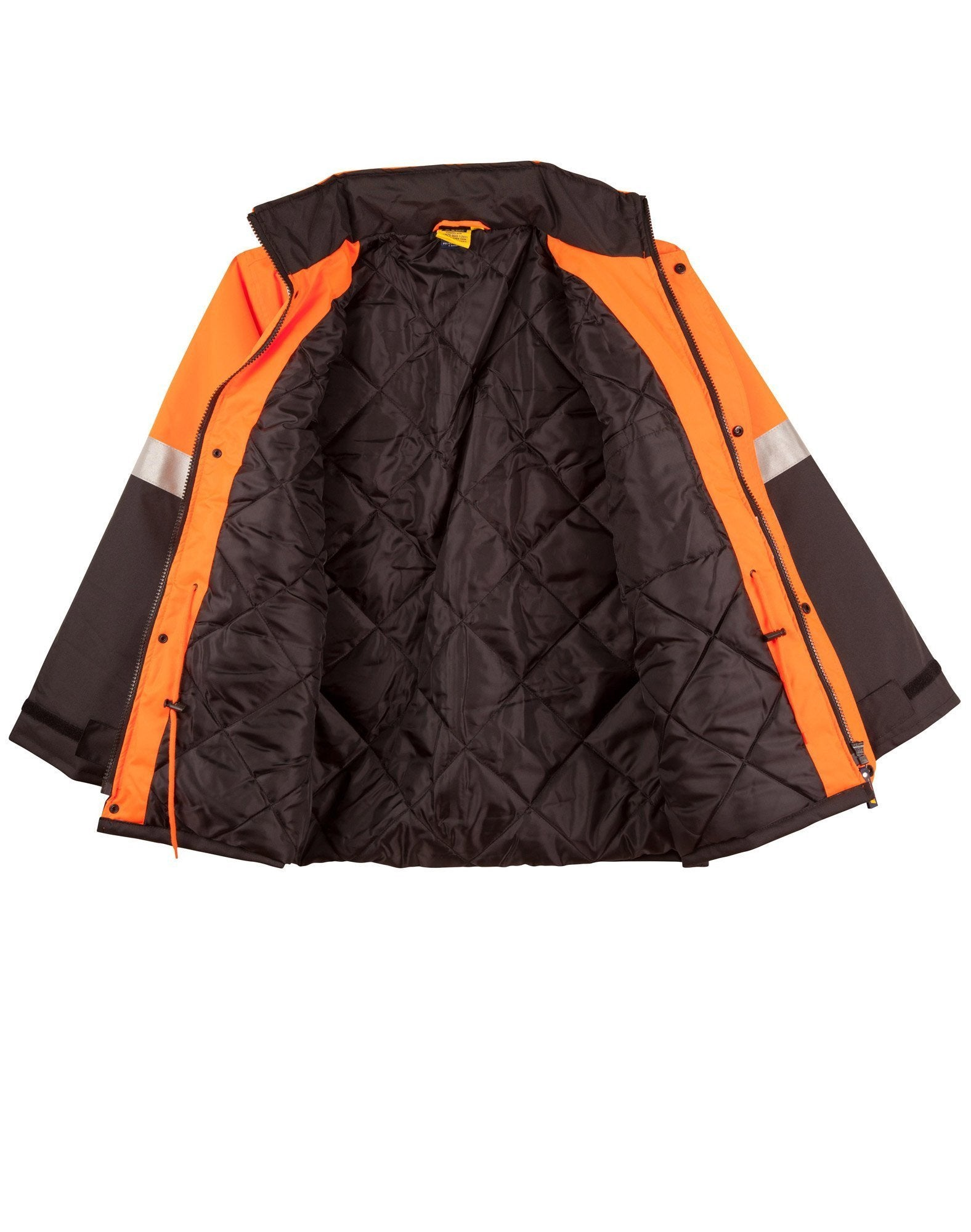 Hi Vis Rain Proof Jacket with Quilt Lining