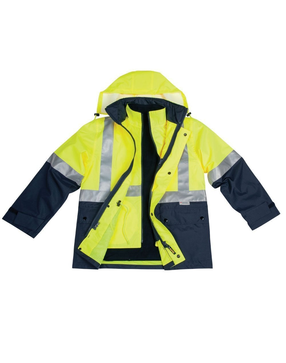 Hi-Vis 3in1 Jacket/Vest Combo