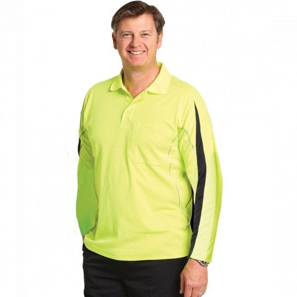 Legend L/S Hi Vis Polo
