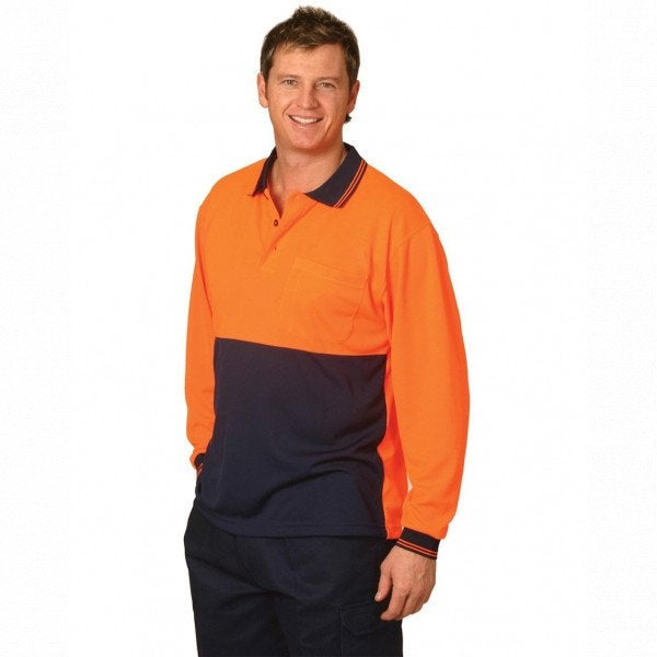 Custom Hi Vis Cool Dry Micromesh Polo