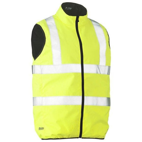 TAPED HI VIS REVERSIBLE PUFFER VEST