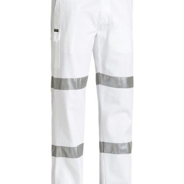 Custom TAPED COTTON DRILL WHITE WORK PANT