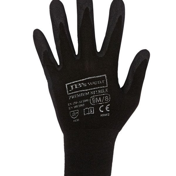 Custom JB'S PREMIUM BLACK NITRILE GLOVE (12 PACK)