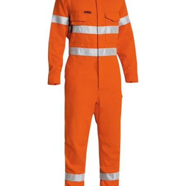 TAPED HI VIS LIGHTWEIGHT NON VENTED COVERALL