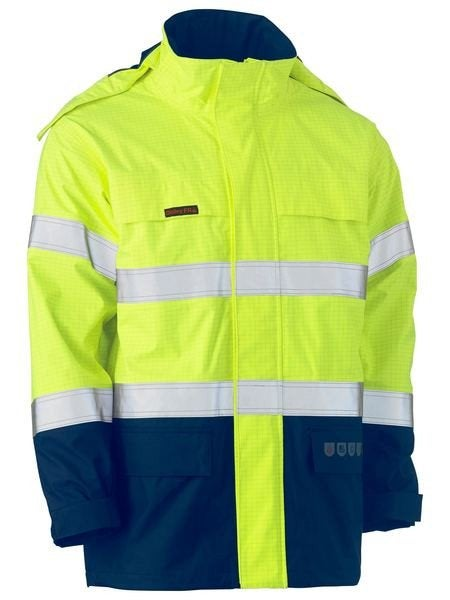 TAPED TWO TONE HI VIS WET WEATHER SHELL JACKET