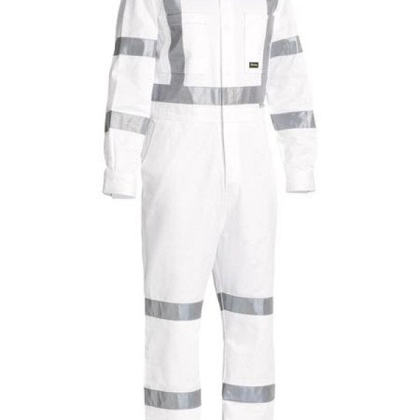 Custom TAPED WHITE DRILL COVERALL