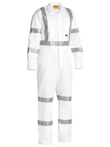 TAPED WHITE DRILL COVERALL
