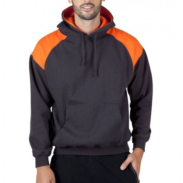 Custom Mens Shoulder Contrast Panel Hoodie