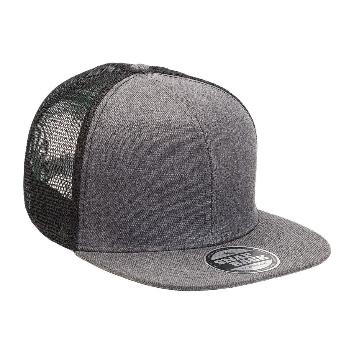 Heathered Flat Peak Trucker Cap