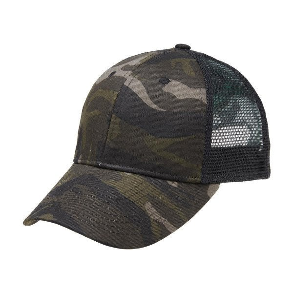 Custom Black Camo Trucker Cap