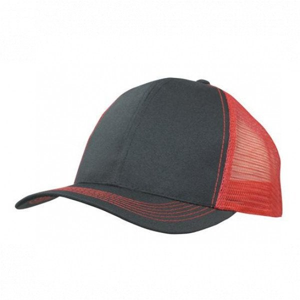 Custom Breathable Poly Twill Cap With Mesh Back