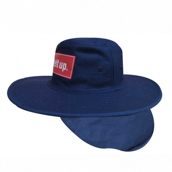 Custom Canvas Sun Hat with Flap