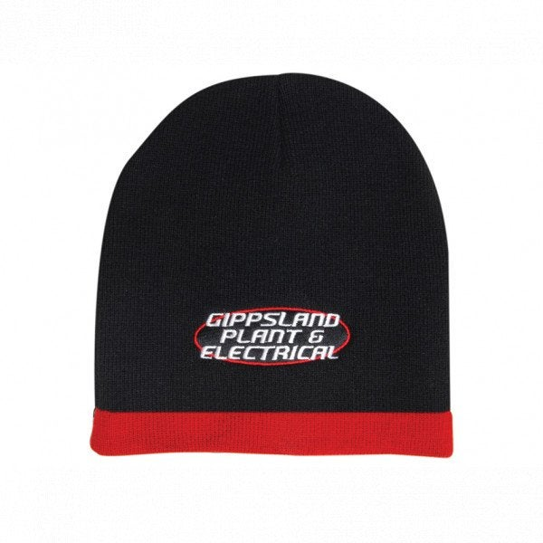 Custom Roll Down Two Tone Acrylic Beanie - Toque