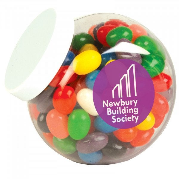 Custom Assorted Colour Mini Jelly Beans in Container
