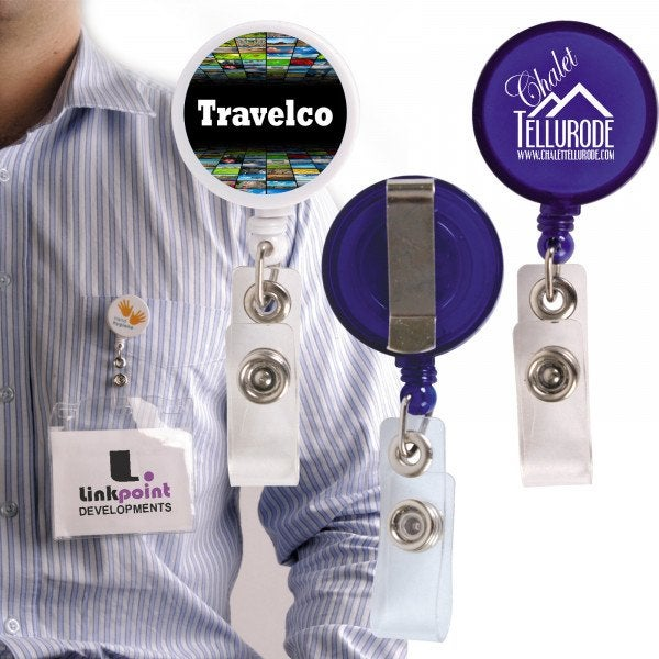 Custom Corfu Retractable Name Badge Holder