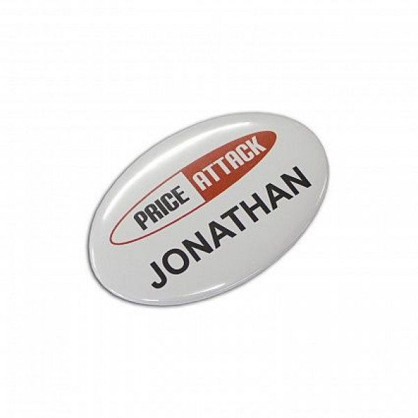 Custom Button Badge Oval - 65 x 45mm