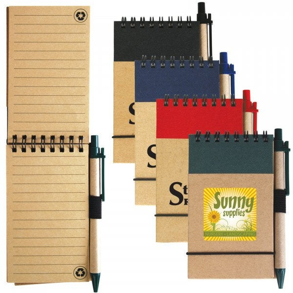 Custom Tradie Cardboard Notebook with Pen