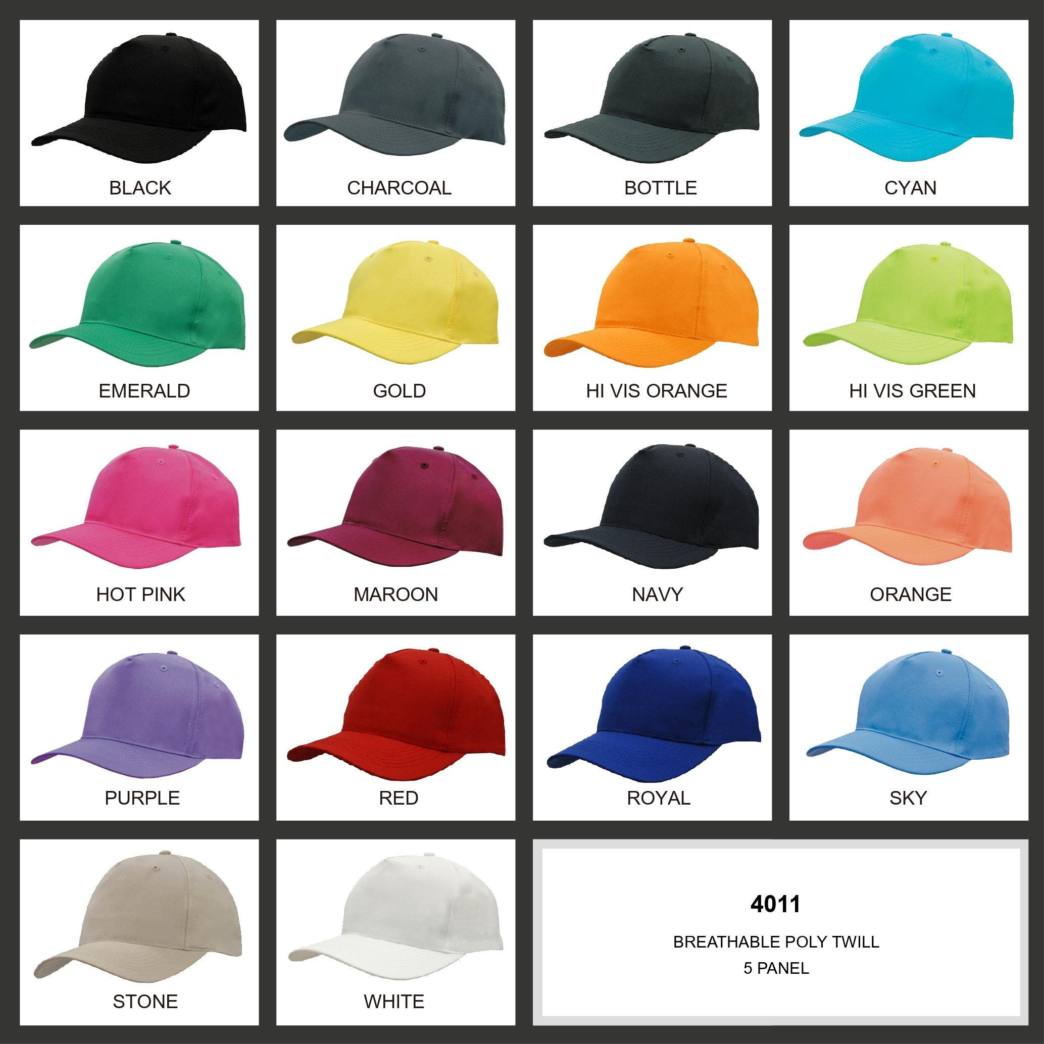 Breathable Poly Twill Cap