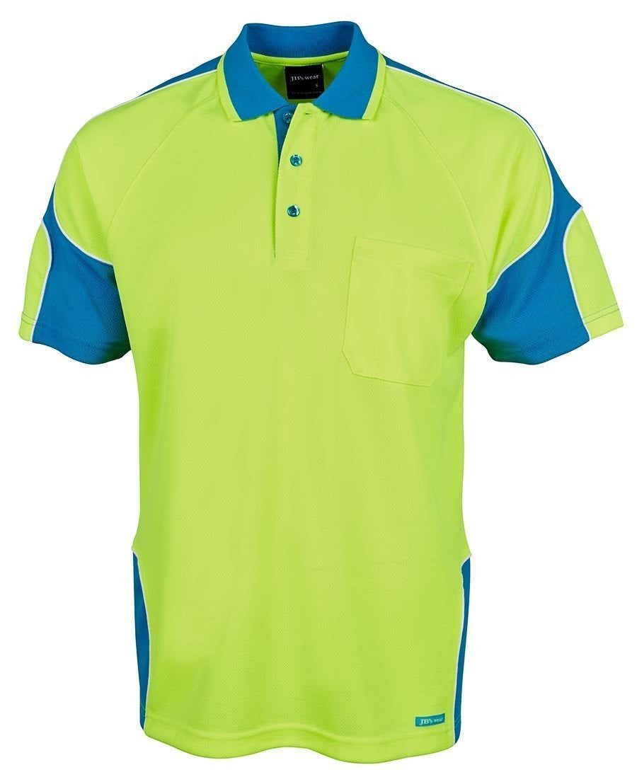 Hi Vis S/S Arm Panel Polo