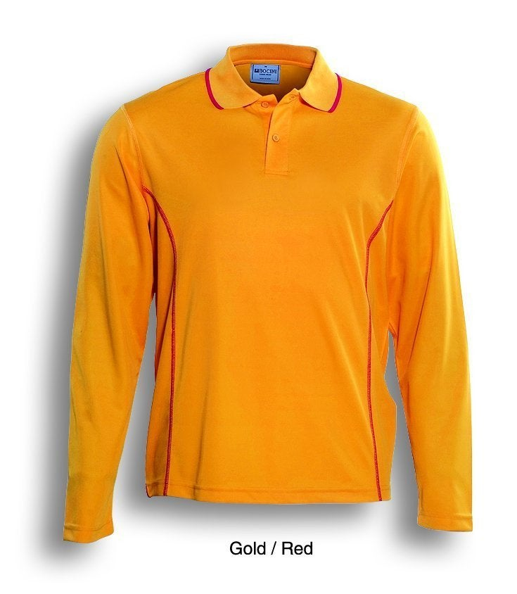 Bocini Essential Mens Long Sleeve Polo
