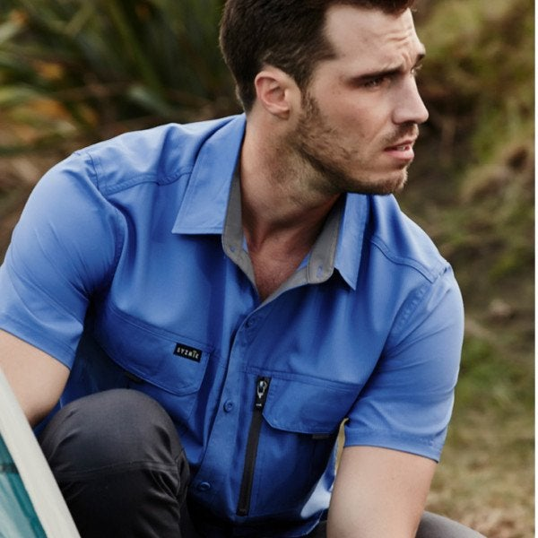 Custom Mens Outdoor Short Sleeve Shirt