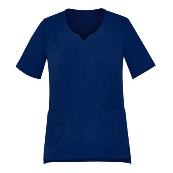 Custom Womens Tailored Fit Round Neck Scrub Top