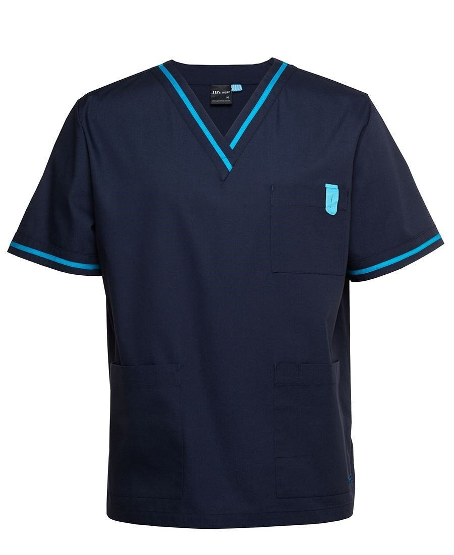 Mens Contrast Scrubs Top