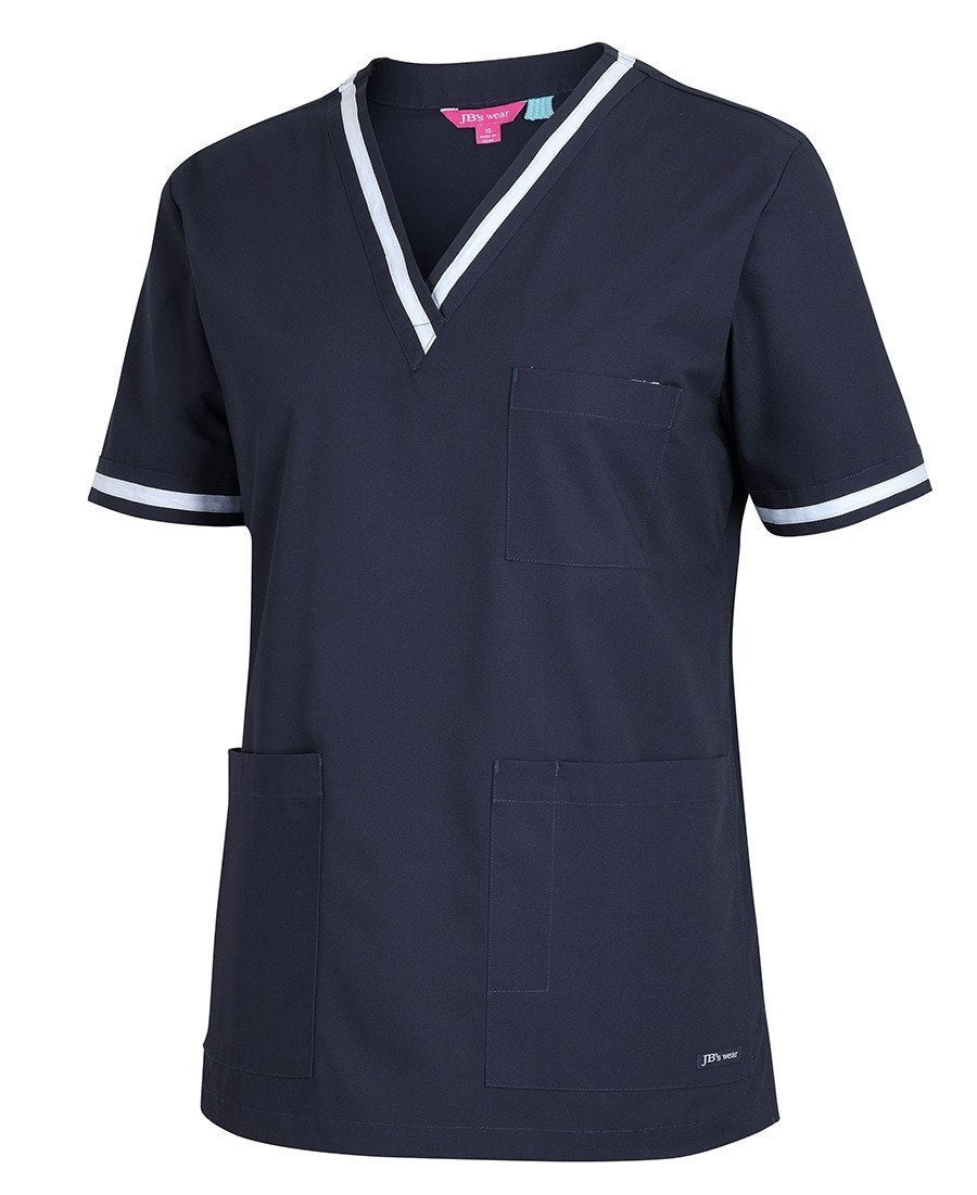 Ladies Contrast Scrubs Top