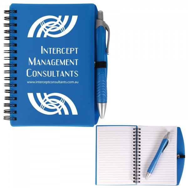 Custom Scribe Spiral Notebook with Pen