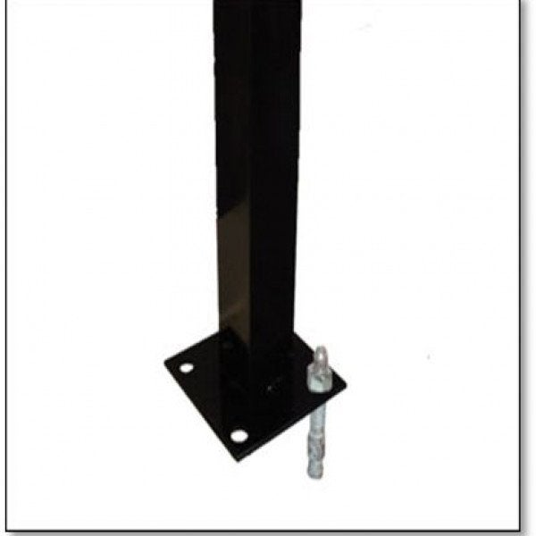 Post Aluminium Flanged Black - 76 x 76 x 1300mm