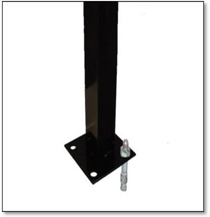 Flanged Post 1.9m Height