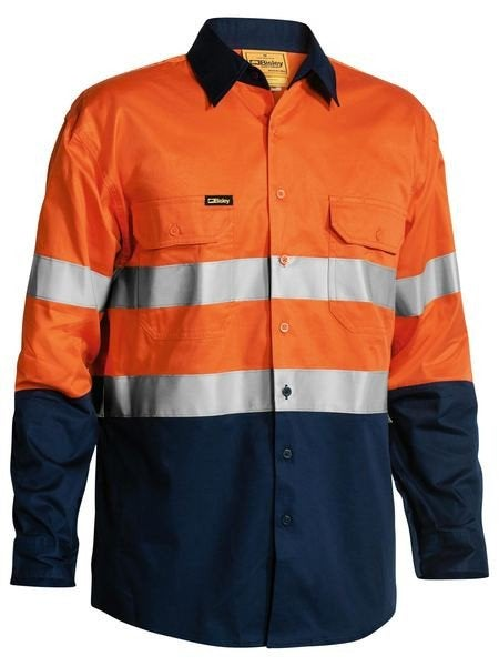 3M TAPED TWO TONE HI VIS COOL LIGHTWEIGHT MENS SHIRT L/S