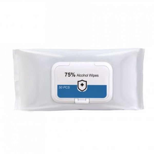 Custom 75% Alcohol Wet Wipes - 50PC Pack