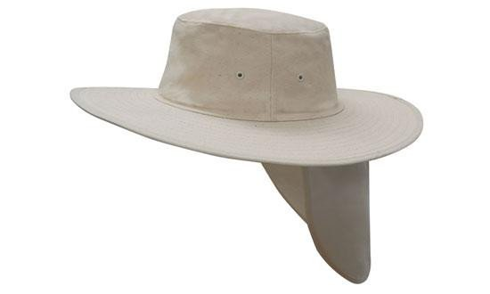 Canvas Sun Hat With Flap