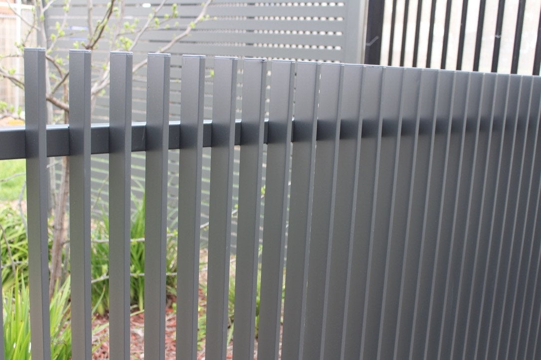 Vertical Monument Blade Fence Panel, Slimline  (The Fin) - 1200mm high x 2400mm Wide