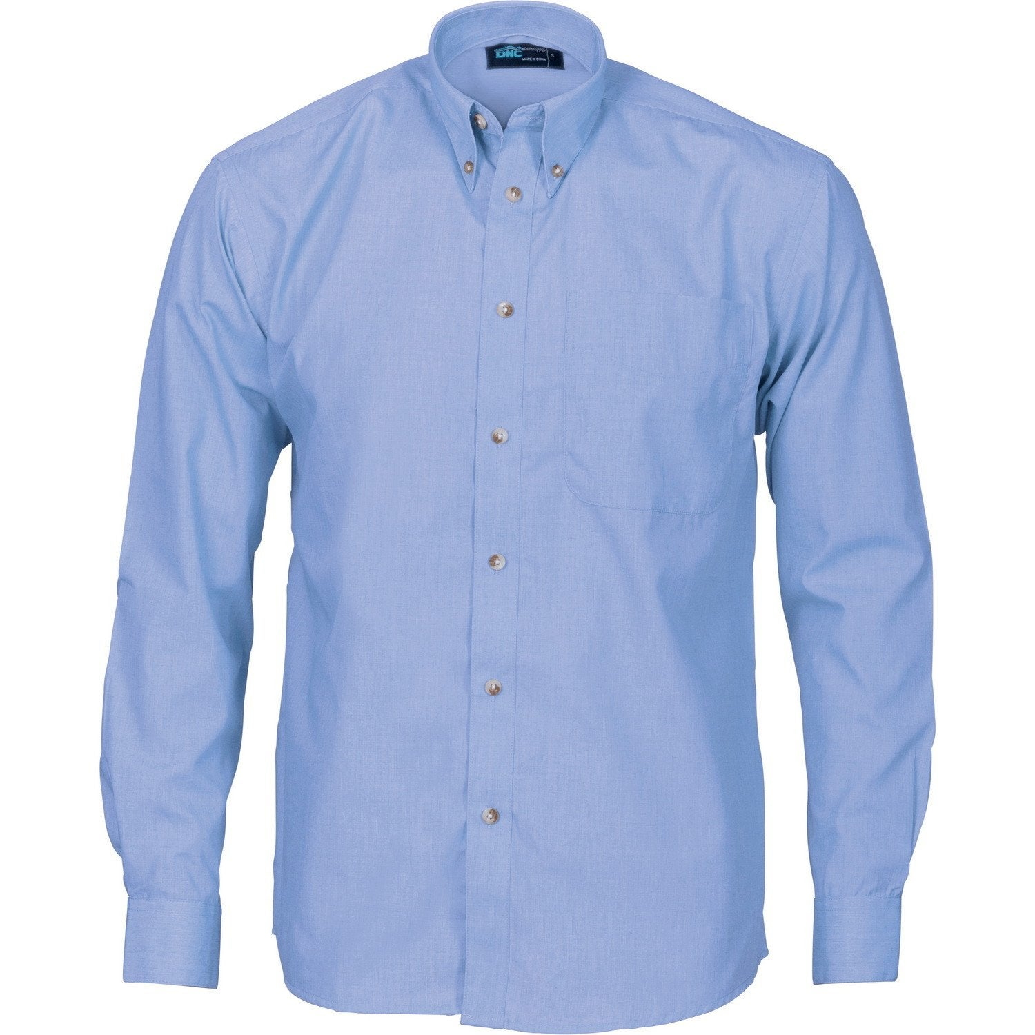 Polyester Cotton Chambray Business Shirt