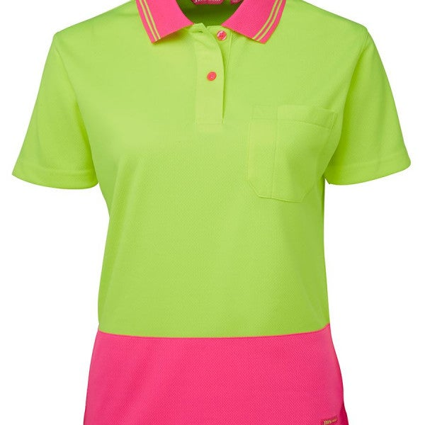 Custom JB'S LADIES HI VIS S/S COMFORT POLO
