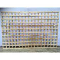 Treated Pine Lattice - 2400mm x 600mm - 62mm Square Lattice Sheet