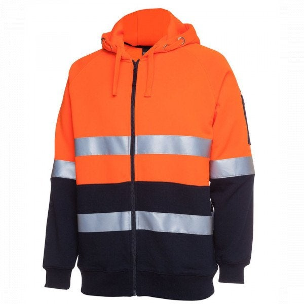 Custom Hi Vis (D+N) Full Zip Fleecy Hoodie