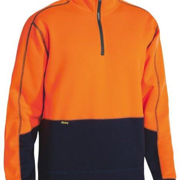 Custom Hi Vis Fleece 1/4 Zip Pullover