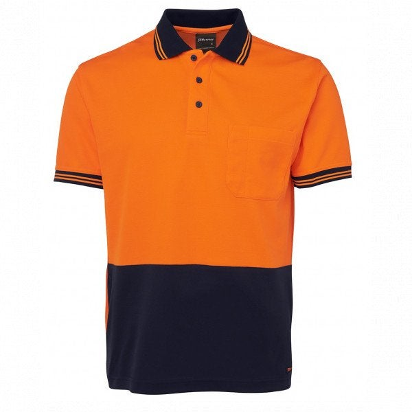 Custom Hi Vis S/S Cotton Back Polo