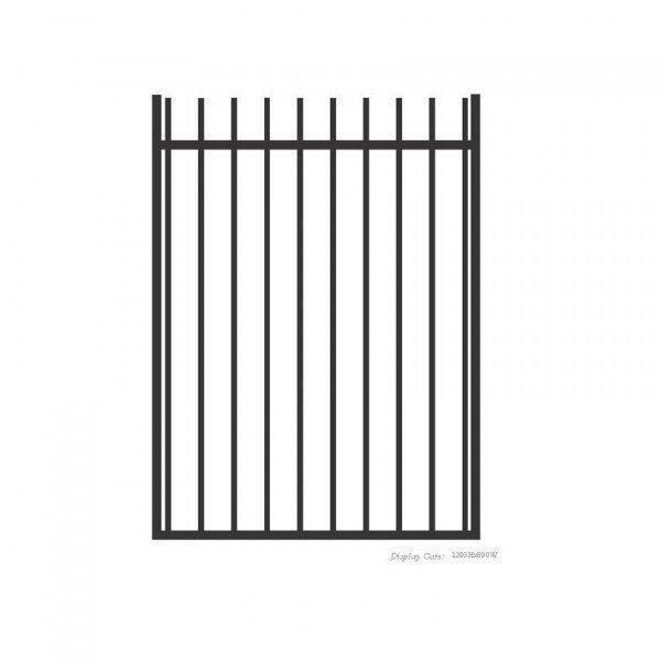 Aluminium Rod Top Gate - Powder Coated - Black