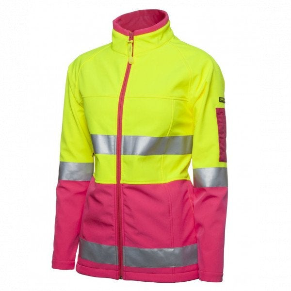 Custom Ladies Hi Vis Softshell Jacket