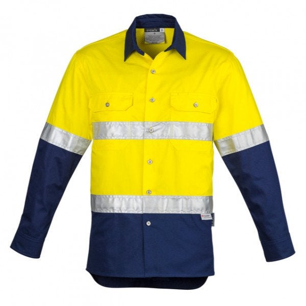 Custom Hi Vis Spliced Industrial Shirt